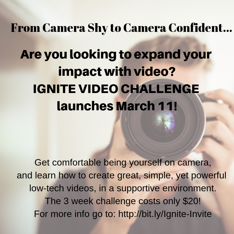 Ready to go from Camera Shy to Camera Confident?